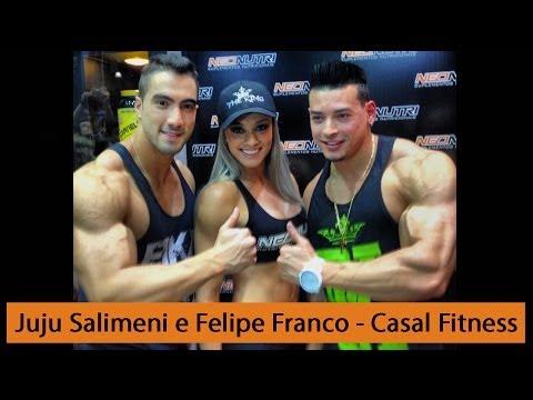 Juju Salimeni e Felipe Franco - Casal Fitness Top