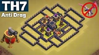 getlinkyoutube.com-BEST UNDEFEATED Town Hall 7 (TH7) War Base | ANTI DRAG GUARANTEED | AIR SWEEPER | Clash of Clans