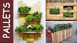 Top jardineiras e vasos de Pallets - Recycled Pallet planters