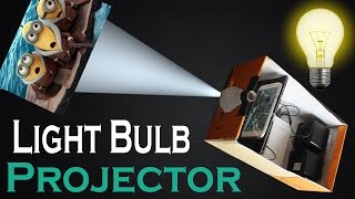 getlinkyoutube.com-How To Make Light Bulb Smart Phone Projector At Home Easy DIY Light Bulb and Shoe Box Projector