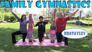getlinkyoutube.com-Family Gymnastics Challenge | Bratayley