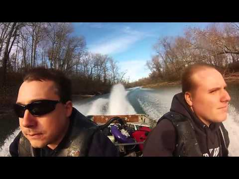 110 hp seadoo powered jet jon boat hardin creek tn river