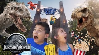 getlinkyoutube.com-JURASSIC WORLD DAY! Movie Fun + Toy Shopping at Target! Minions, Minecraft, Inside Out & Terraria