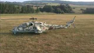 getlinkyoutube.com-R/C Mi-24 Hind Helicopter Turbine Powered SICK!!