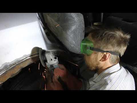 Ремонт и замена арок Mitsubishi Outlander - коррозия. Перевариваем гнилые задние арки в Томске