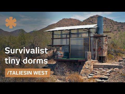 Survivalist tiny dorms at Frank Lloyd Wright's Taliesin architecture school