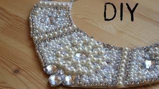 getlinkyoutube.com-DIY Collar de perlas y piedras Swarovski
