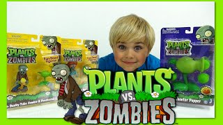 getlinkyoutube.com-Plants VS Zombies - Disco Zombie, Ducky Zombie and Peashooter Toy Review