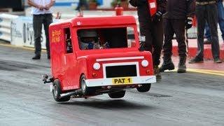 getlinkyoutube.com-Worlds Fastest Postman Pat Van NSRA Hot Rod Drags 2012