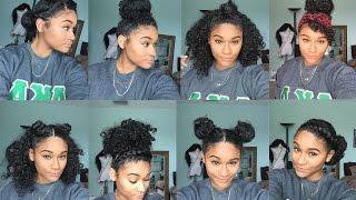 getlinkyoutube.com-Natural hair | 8 Bun Styles for Curly Hair