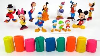 getlinkyoutube.com-киндер сюрприз микки маус play doh целая коллекция 9 фигурок