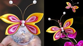 getlinkyoutube.com-DIY Crafts - How to Make a Satin Butterfly in Few Easy Steps | Girls Accessories