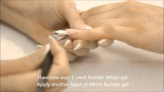 getlinkyoutube.com-Gel sculpture, ReformA. French with nail-bed extension. Step by step