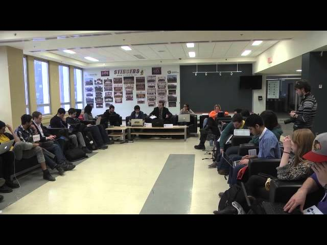 Excerpt from CSU Council Meeting February 19 2014