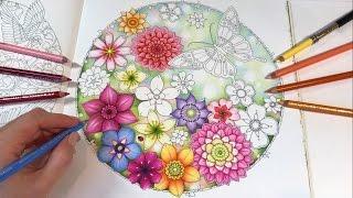 getlinkyoutube.com-Secret Garden - Part 1   Magical Jungle Coloring Book by Johanna Basford
