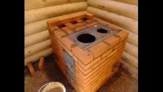 getlinkyoutube.com-Отопительно-варочная печь своими руками с порядовкой.