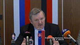 Tlacovka 22.2.2016 prim.RS - Jozef Šimko