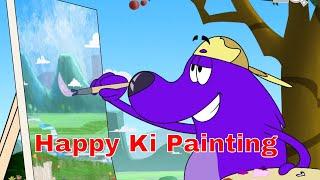 Pyaar Mohabbat Happy Lucky - Episode 44 |Happy Ki Painting | Animated Series