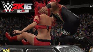 getlinkyoutube.com-Eva Marie DESTROYS the Nation Of Domination | WWE 2K16 PC Mod | Austin Showcase Mod