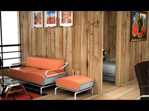 Casa de madera, moderna, casa prefabricada económica