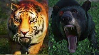 getlinkyoutube.com-Far Cry 4 Massive Battle - 100 Tigers vs. 100 Bears