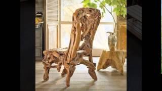 getlinkyoutube.com-Оригинальные стулья из дерева своими руками