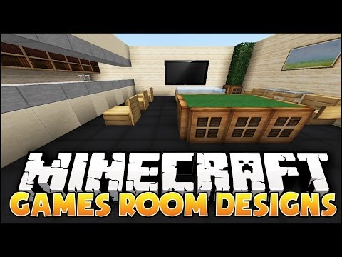 Minecraft: Games Room Designs &amp; Ideas
