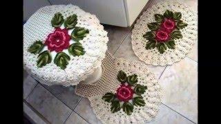 getlinkyoutube.com-Уютные вязанные коврики для ванной комнаты