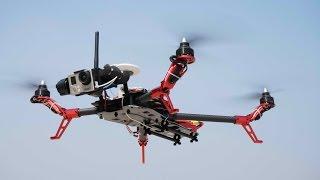 getlinkyoutube.com-Scorpion Flycker 550 Quadcopter Maiden Flight testing