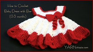 getlinkyoutube.com-How to Crochet a Baby Dress with a Bow