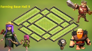 getlinkyoutube.com-clash of clans - th9 farming base 2015 top town hall 9 farming  Base defense Anti 50% , anti giant