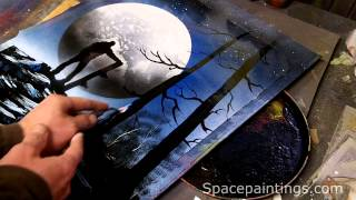 Snowboarder Spray Paint Art