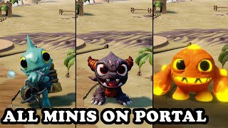 Skylanders Superchargers - All Skylanders Minis on Portal GAMEPLAY