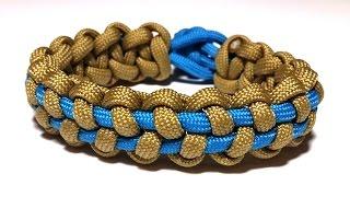 getlinkyoutube.com-How to make Stitched Solomon Bar bracelet [by ParacordKnots]