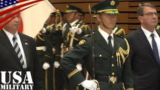 getlinkyoutube.com-儀仗隊の栄誉礼を受けるカーター国防長官・陸上自衛隊 第302保安警務中隊