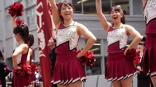 getlinkyoutube.com-Cheerleading 紺碧の空 早稲田大学応援部チアリーダーズ