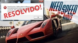 Need For Speed Rivals DirectX Error Fix [ RESOLVIDO! ]