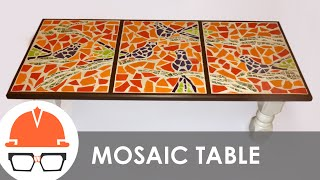 getlinkyoutube.com-Building a tile mosaic coffee table