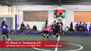A golpes el FC Shore vs. Taximaroa