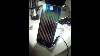 getlinkyoutube.com-reparación iphone 5 5G display con rayas verticales ,lcd zebra lines solution