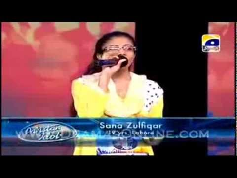 sana zulfqar with Bad throat in Episode 8 Pakistan Idol