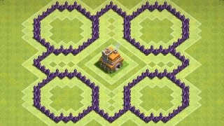 """getlinkyoutube.com-CoC """"NEW"""" Town hall 7 (TH7) Farming Base With 3 Air Defence"""