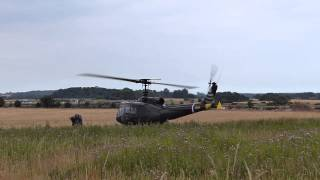 getlinkyoutube.com-Bell Huey UH-1H Helicopter Startup and Departure