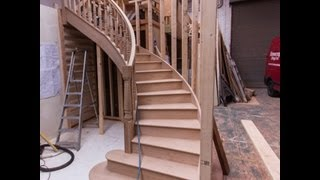 getlinkyoutube.com-How to make the best designer oak curved staircase.