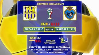 INTERVISTE  DOPO  PARTITA  COPPA  ITALIA   MAZARA  -  MARSALA 1912