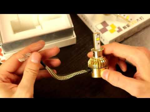 Я в Шоке! Замена Дальнего Света на Светодиодные лампы H3 в Авто 76 Вт 9600LM 6000 К Auto LED Light