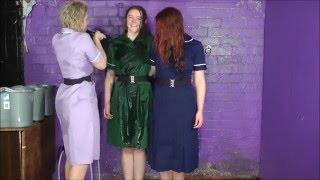 getlinkyoutube.com-Three Wet Nurses - fully clothed wet women in uniform!