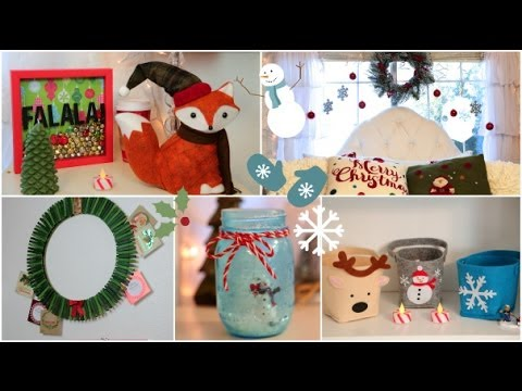 DIY Holiday room Decorations + Easy ways to decorate/organize!