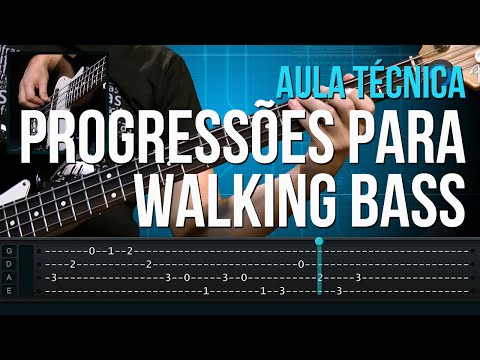 Progress�es para Walking Bass (aula t�cnica de contra-baixo)