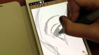 getlinkyoutube.com-Samsung Galaxy Note and sketching on S Memo